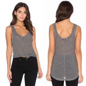 PAIGE Shaelyn striped scoop neck tank top